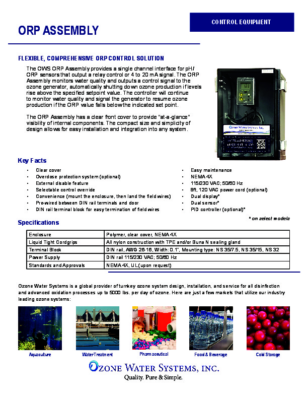 Contactor - Ozone Water Systems